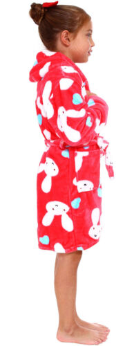 Kids Boys Girls Outdoor Warm Plush Pool Shower Hoodie Bath Robe and Cover up