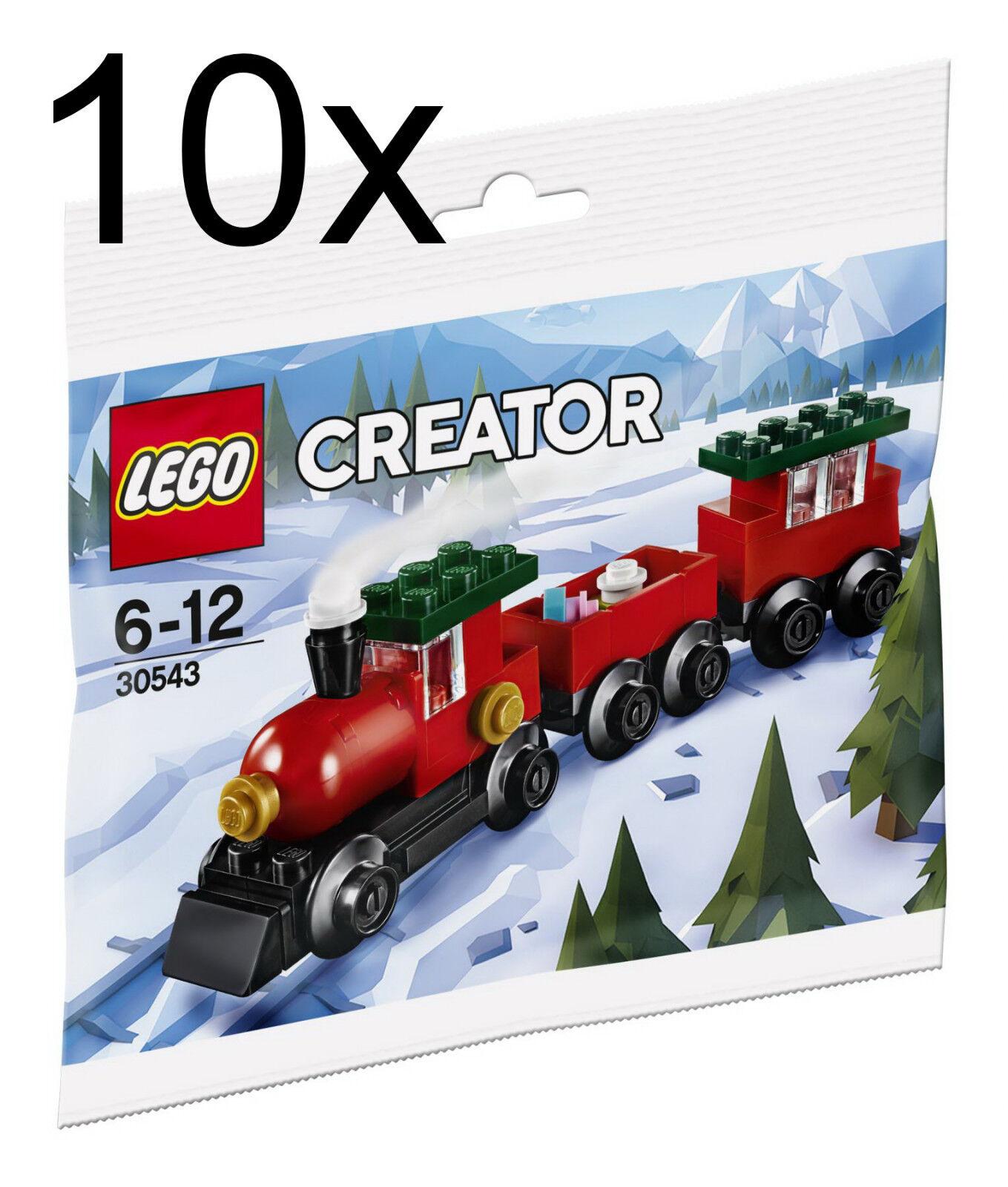 LEGO 10x 30543 Weihnachtszug Polybag - Weihnachten Zug Christmas Train Advent