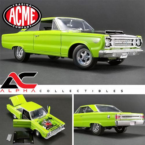 el mejor servicio post-venta Acme 1967 PLYMOUTH BELVEDERE GTX A1806703 1 1 1 18 Edición Limitada 552 piezas Limelight verde  conveniente