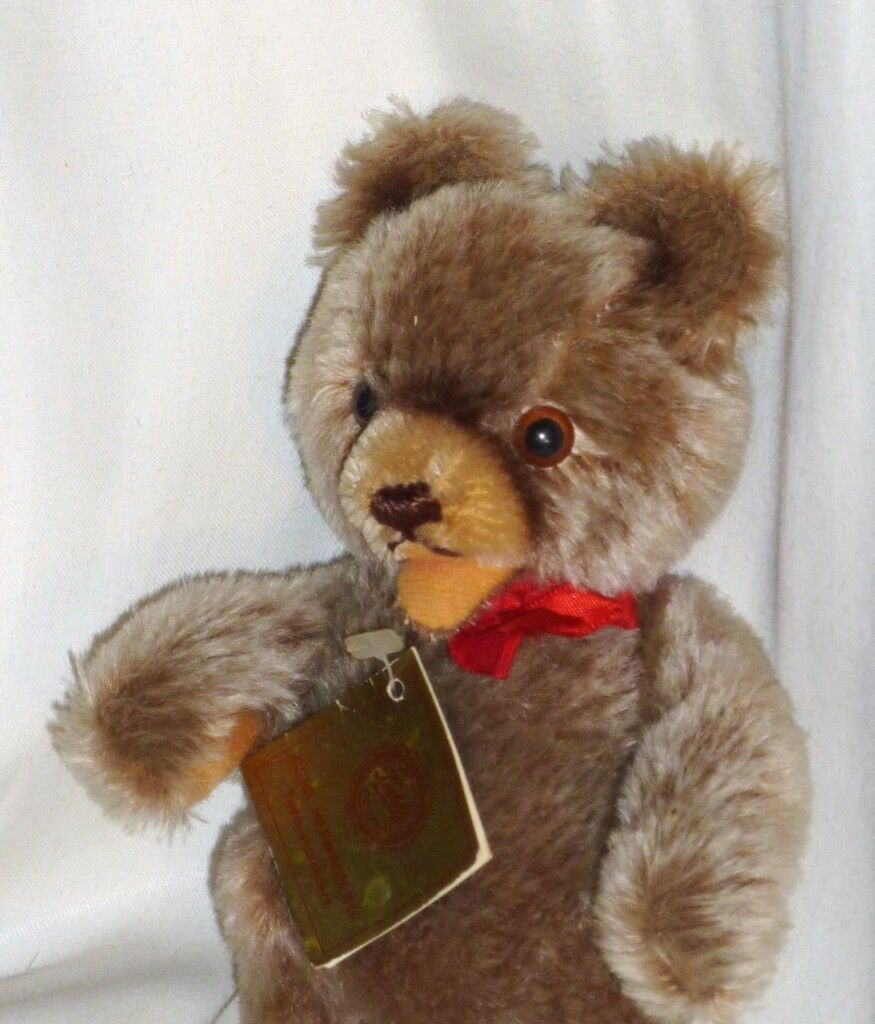 Vintage Taupe Hermann Teddy Bear Original with Tag