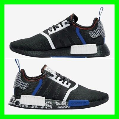 NMD R1 Adidas Mens Trainers Black Red Grey Limited Edition Sneakers All Sizes