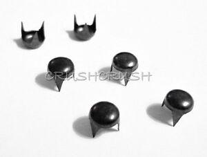 FREE-SHIPPING-100pcs-3-16-034-5mm-Gunmetal-Round-Studs-Nailheads-Spike-S003