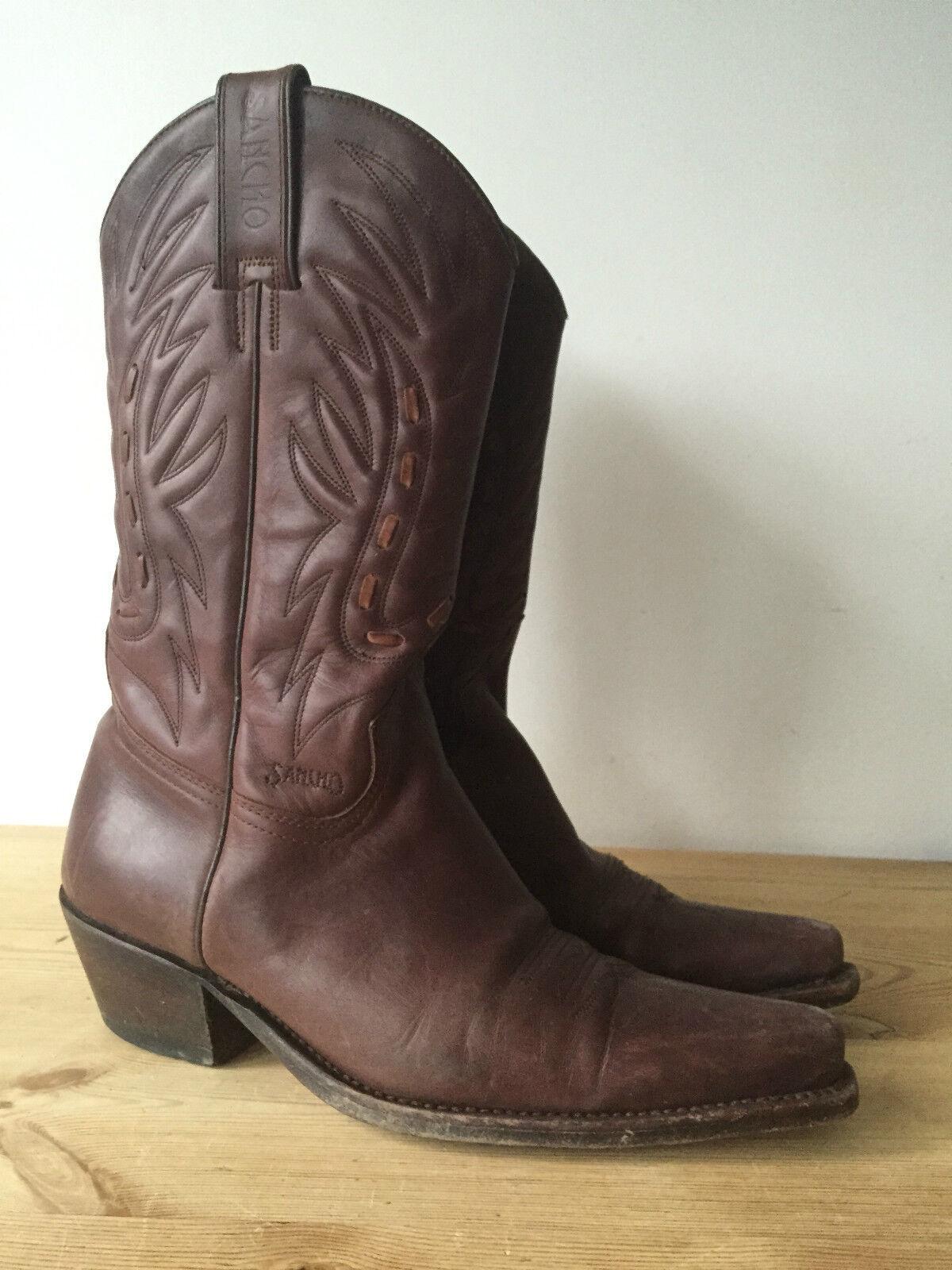Miglior prezzo SANCHO SANCHO SANCHO Donna Marrone Pelle Al Polpaccio Stivali Da Cowboy UK5  risparmia il 35% - 70% di sconto