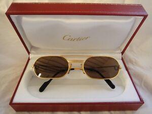 France 53mm About John Elton Details Plated Vendome Must Gold Sunglasses Hard Vintage Cartier O0wX8Pnk