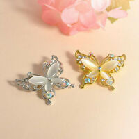 Fashion Women Gold/Silver Crystal Rhinestone Plated Butterfly Brooch Pin Hot