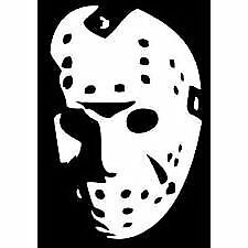 "Jason Hockey Mask Face Friday The 13th 6"" White Car decal ..."