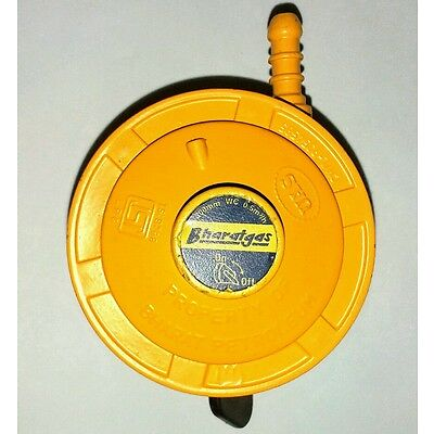 ISI Safety Yellow Home Cooking LPG Gas Cylinder On/Off  Regulator.