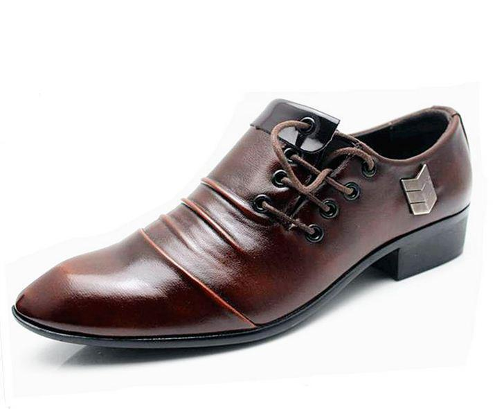 Stylish Mens Casual lace up pointy Formal Dress wedding party shoes Oxford  XIE