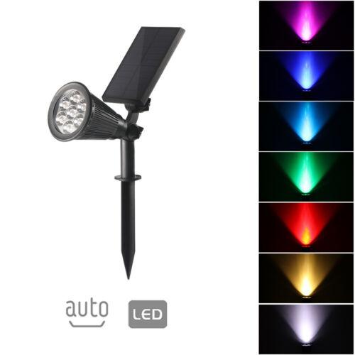 Solar Powered 7 LED Spotlight Outdoor Garden Decor Lamp Lawn Lights Waterproof
