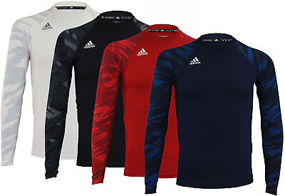Color Options Matching In Colour Adidas Men's Team Techfit Long Sleeve Shirt Men's Clothing