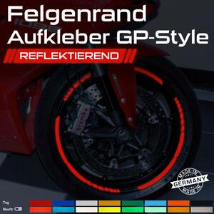Felgenrandaufkleber reflektierend GP Design Motorrad felgenaufkleber Orange
