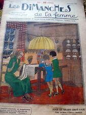 VTG 1920s PARIS CRAFT & SEWING PATTERN MAGAZINE LES Dimaches De La Femme 1922