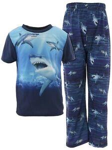 Quad Seven Boys Astronauts Blue Short Sleeve Two-Piece Pajama Set