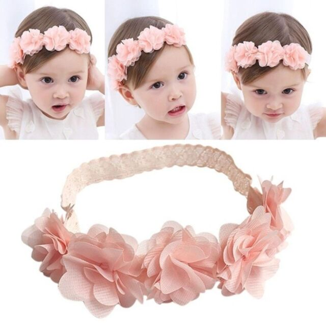 Kids Baby Girl Toddler Cute Lace Flower Hair Band Headwear Headband  Accessories 4204f4576835