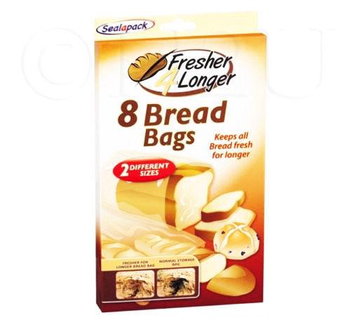 8 Bread Bags Keeps Loaf Fresher Longer Sizes Storage Bread bags Fresh Sandwiches