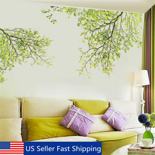 Green Tree Branch Wall Sticker Removable PVC Wall Sticker Home Decor Decal