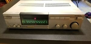 1984-Vintage-Sanyo-DCR100-Stereo-Reciever-AM-FM-Tuner-AUX-Input-Phono-Tape