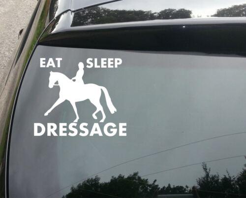 Dressage Funny Van//Car JDM VW DUB VAG EURO Vinyl Decal Sticker Eat Sleep