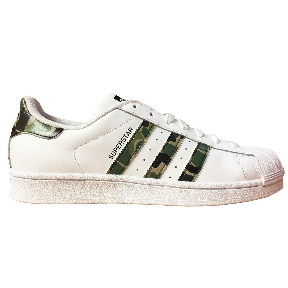 Herren Adidas Superstar Foundation weiße Sportschuhe b44855