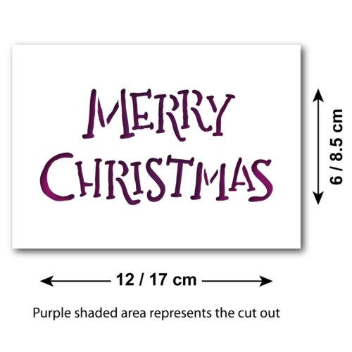 Merry Christmas Stencil Hand Written Style Children/'s Christmas Craft Template