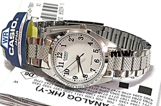 Casio Fashion Watch Ladies Stainless Steel Analog Quartz White Dial LTP-1274D-7B