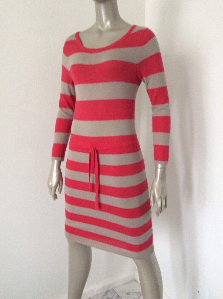 Rag And Bone Womens Red Tan Striped Wool Silk Cot… - image 7