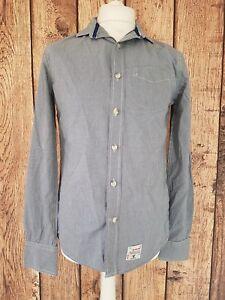 Camisa-para-hombre-de-Superdry-con-cuadros-gingham-en-cuadros-azules-Mediano-40-pecho