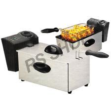 Friggitrice in acciaio inox cucina Grasso 3 LITRI OLIO capacità Chip Friggitrice Nuovo