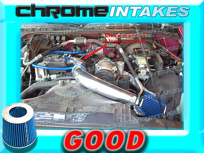 """94 95 96 97 1994-1997 CHEVY S10//XTREME//HOMBRE//SONOMA 2.2L COLD AIR INTAKE 3/"""" RED"""