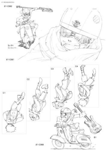FLCL Groundwork Art Book OOP GAINAX Anime Fooly Cooly
