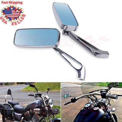 Mirrors 10mm Black Rectangle Left /& Right Honda Style Pair