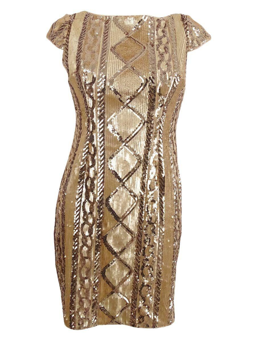 Adrianna Papell Woherren Petite Sequin Sheath Dress