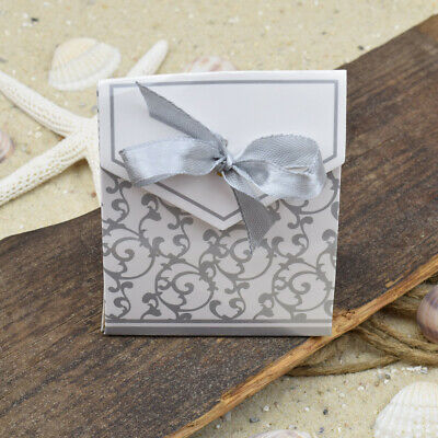 ❦ Geschenkbox KERSTIN Bodenbeutel Faltschachtel mit silberfarbenem Ornament ❦