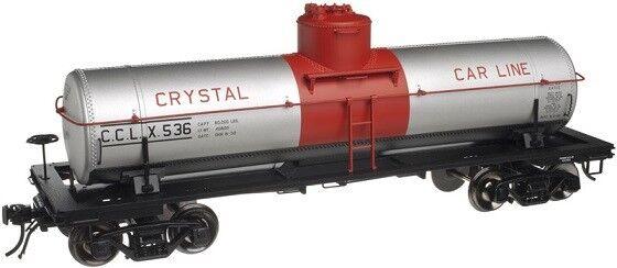 Atlas O scale 3 Rail 8000 Gallon Tank Car Crystal Car Line   3003814-4 Car 555