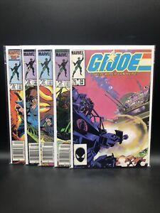 GI Joe Marvel Comic Lot #'s 36 37 41 45 46