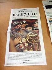 Cleveland Plain Dealer Newspaper Cavaliers Cavs 2016 NBA Champions 6/20/16 MINT