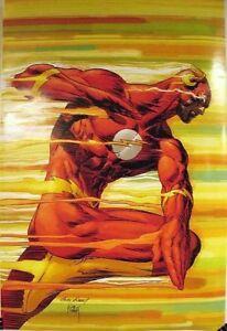 2007 POSTER ~ ANDY & JOEKUBERT ~ THE FLASH #1  ~ ROLLED UNDISPLAYED DC Comics