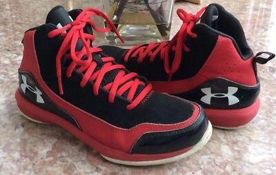 Under Armour UA BGS Jet 3 Kids Black Red Athletic Shoes Size 5Y #1246944 600 EUC | eBay