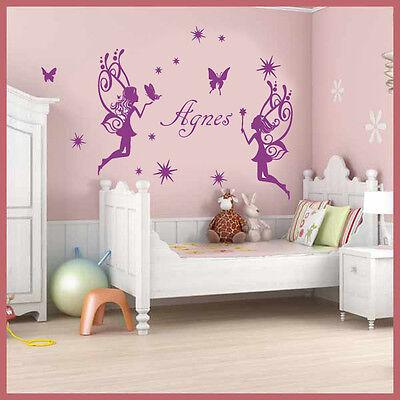 Wall Stickers Custom Baby Name Fairy 2