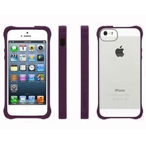 NEW GRIFFIN SURVIVOR IPHONE 5 5S CLEAR CASE COVER PURPLE ...Iphone 5s Rubber Bumper