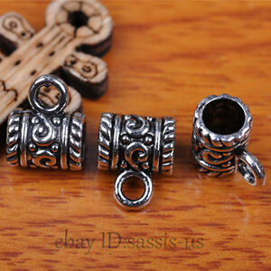 50pcs-Charms-Tibet-Silver-Connector-Bails-Fit-Pandent-DIY-Jewery-Making-A7293