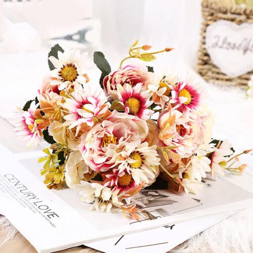 Artificial Silk Flower Peony Pink Wedding Bouquet Home Decor Indoor Scene Hot