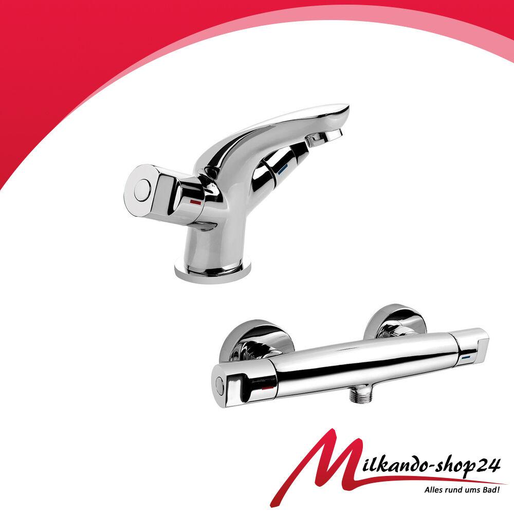 2tlg Set Waschtischarmatur Duscharmatur Armatur Dusche Badarmatur Bad