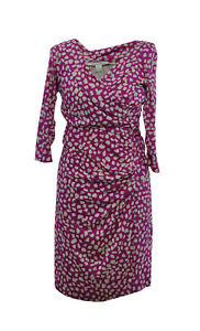 Diane-Von-Furstenberg-DVF-pink-Silk-Dress-USA-8-Uk-12