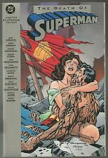 The Death of Superman Limited Platinum Edition TPB! Near Mint+ Condition 9.6!
