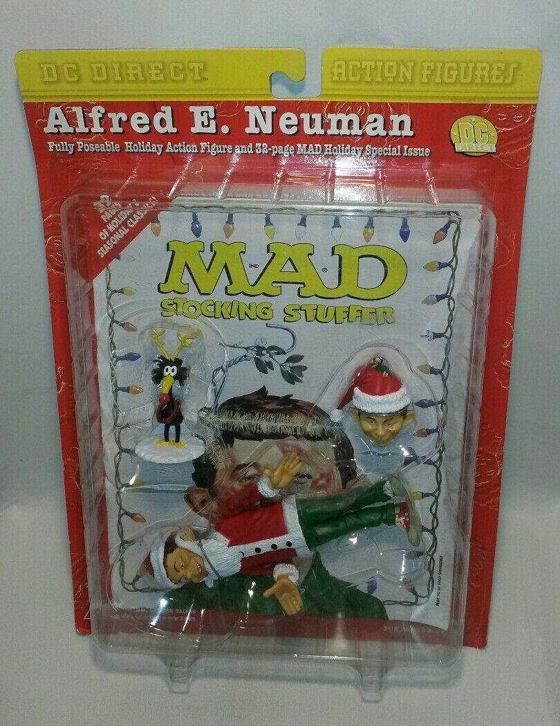FRAMTIDA planR OCH LIVSKVALITET FÖR NYA RARE Alfröd E Newman DC Direct Mad Magazine Holiday Action Figur 1999