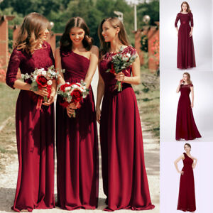 7f336613fdc Image is loading Ever-pretty-Burgundy-Long-Maxi-Homecoming-Dresses-Evening-