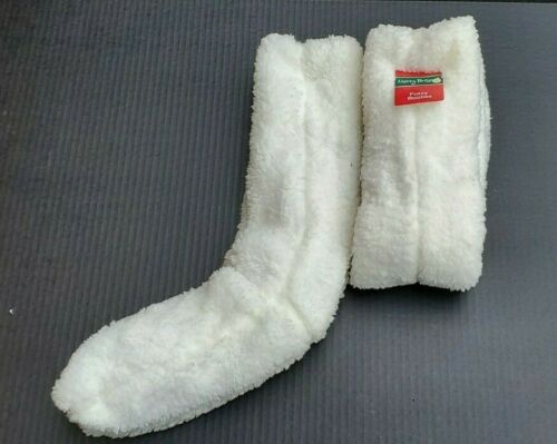 """2 Pair Super Soft Fuzzy Booties 24/"""" Long Size 9-11"""