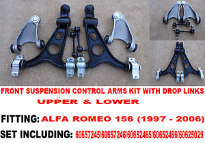 ALFA-ROMEO-156-FRONT-UPPER-LOWER-WISHBONE-SUSPENSION-ARMS