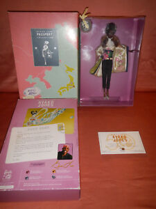 Barbie-6614-BYRON-LARS-AYAKO-JONES-Mattel-Certificate-of-Authenticity-2009